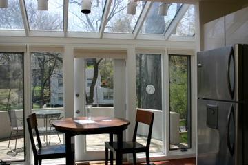 Artisan home builders llc photo gallery for Kitchen with sunroom attached